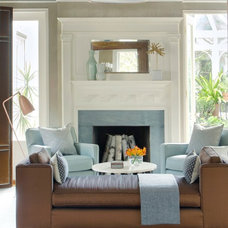Traditional Living Room by lisa k. tharp - k. tharp design