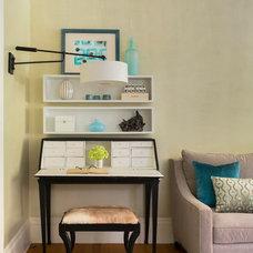 Transitional Living Room by lisa k. tharp - k. tharp design