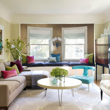 Transitional Living Room by lisa k. tharp - k. tharp design