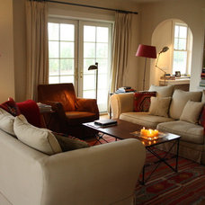 Traditional Living Room by Holly Marder