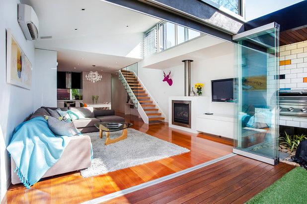 Contemporary Living Room Houzz Tour: Elsternwick Addition
