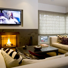 Modern Family Room by Cynthia Lynn Photography