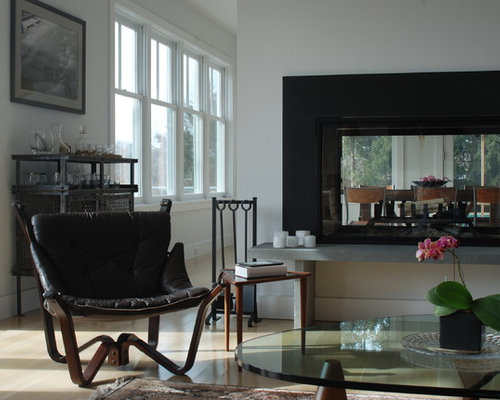 SaveEmail - Two-Sided Fireplace Design Ideas & Remodel Pictures Houzz