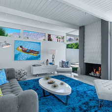 Midcentury Living Room by H3K Design