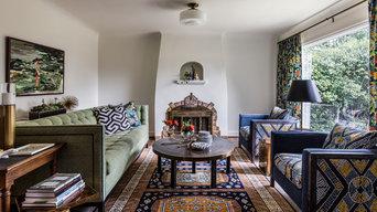 Hoyt Street Tudor: Living Room