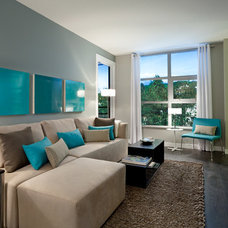 Modern Living Room by Portico Design Group