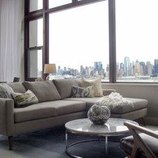 Contemporary Living Room by Threshold Goods & Design, LLC