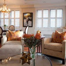 Transitional Living Room by Patty Kennedy Interiors, LLC
