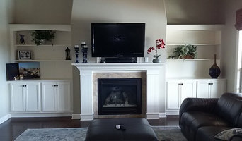 Hughes custom bookcase and butler station