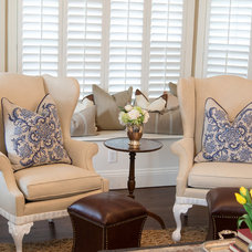 Traditional Living Room by Duet Design Group