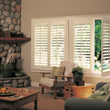 Rustic Living Room by Accent Window Fashions LLC