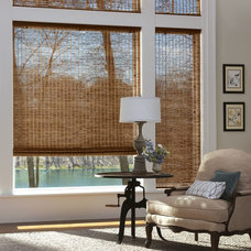 Eclectic Roman Shades by Value Blind & Heirloom Draperies Inc