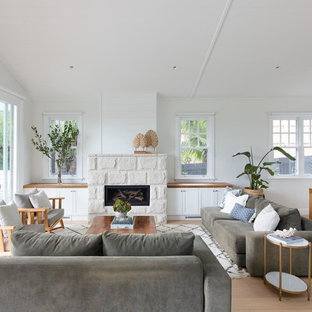 Photo of a beach style living room in Sydney.