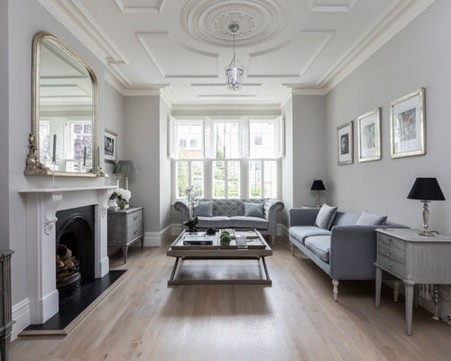 Living Room Ideas Photos with Grey Walls