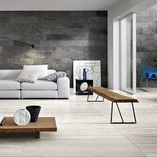 Modern Living Room by Cercan Tile Inc.