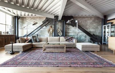 Zoom sur le tapis d'inspiration persane, un caméléon de la déco