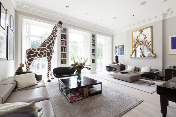 Eclectic Living Room by Domus Nova