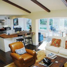 Traditional Living Room by KADE Restoration