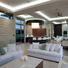 Modern Living Room by kevin akey -azd architects - florida