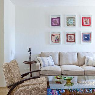 Design ideas for a mediterranean living room in London.