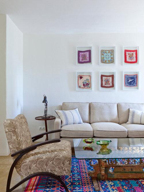 living room mediterranean living room idea in london - Small Apartment Living Room