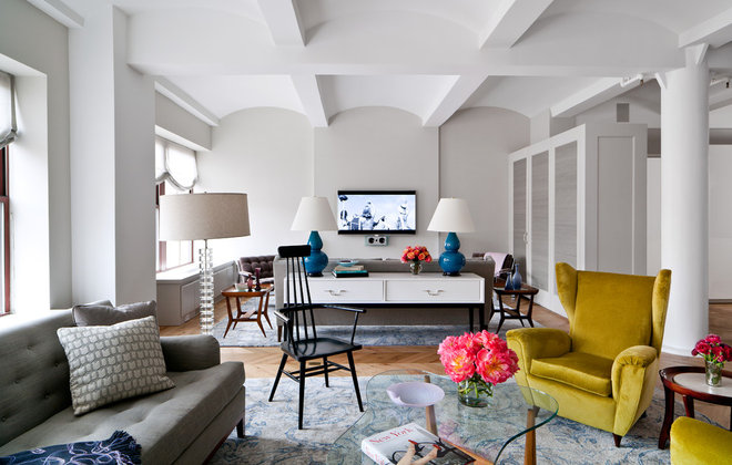 Contemporary Living Room by wUNDERground