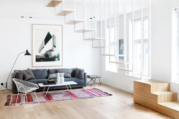 Scandinavian Living Room by Haptic Architects