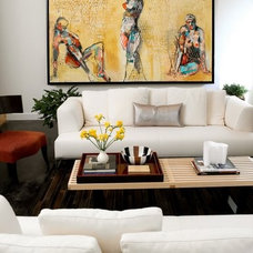 Contemporary Living Room by IIDA Indiana Chapter