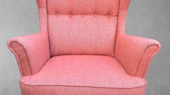 Ikea herringbone wool chair
