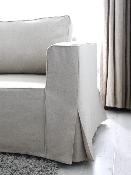 Best Custom Linen Sofa Slipcover Home Design Design Ideas