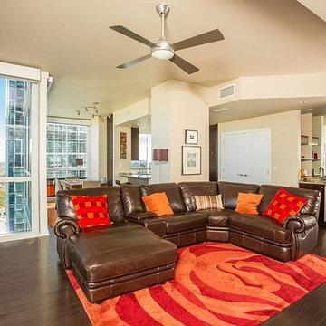 Illusion Red Oak Hardwood Flooring - Living Room