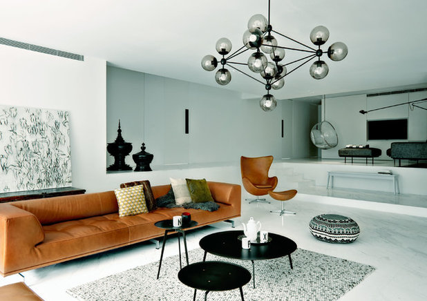 Contemporary Living Room by SPACEDGE