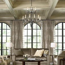 Eclectic Living Room In Atlanta Homes with Thomasville Furniture