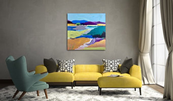 """In Context: """"Angel Island Two"""" Mixed Media on Canvas"""