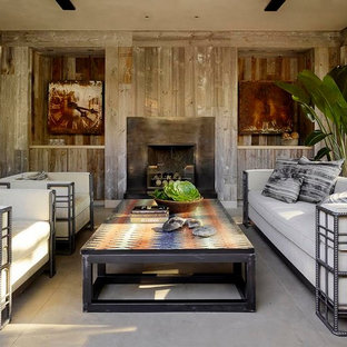 Tuscan living room photo in San Francisco