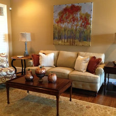Eclectic Living Room by Barnett Furniture