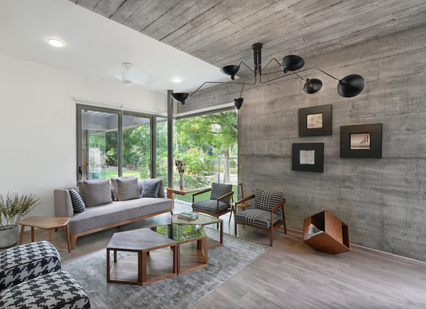 Contemporary Family Room by S A K Designs