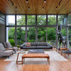 Ahmedabad Houzz: A Glass, Concrete & Steel House in the Midst of Nature