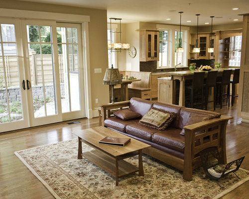 Best craftsman living room design ideas remodel pictures houzz for Craftsman style living room furniture
