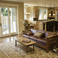 Craftsman Living Room by Christian Gladu Design