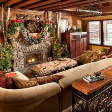 Rustic Living Room by Indeed Decor