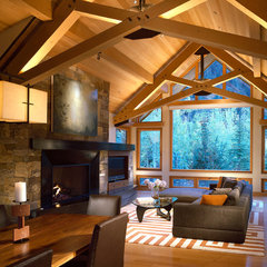 traditional living room by Charles Cunniffe Architects Aspen