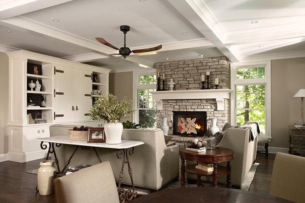 Traditional Living Room by Casa Verde Design