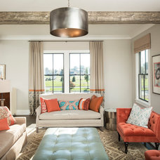 Transitional Living Room by Drapery Street