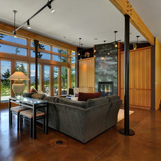 Contemporary Living Room by Mohler + Ghillino Architects