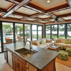 Traditional Living Room by J.M. Froehler Construction