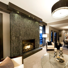 Contemporary Living Room by Belden Brick and Supply