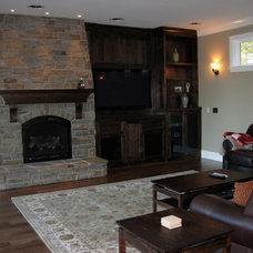 Traditional Living Room by Brown Bros. Masonry