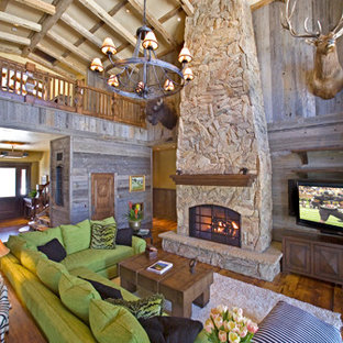 Expansive traditional formal open concept living room in Phoenix with beige walls, travertine floors, a standard fireplace, a stone fireplace surround and no tv.