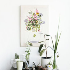 Eclectic Living Room indoor garden